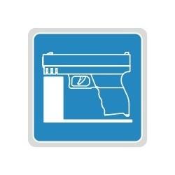 Półka z piankowym uchwytem na broń krótką