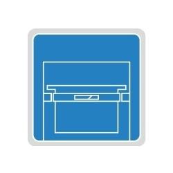 Wysuwana półka ramowa na teczki zawieszkowe